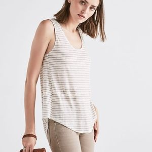 Lucky Brand Striped Scoop Neck Tank